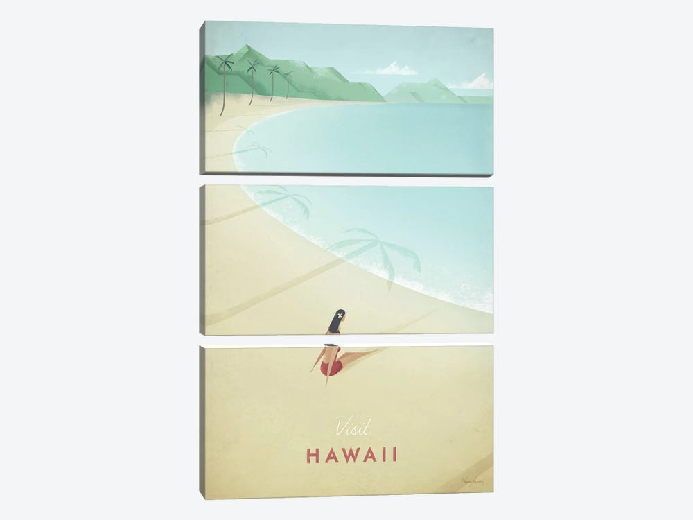 Hawaii by Henry Rivers 3-piece Canvas Art Print