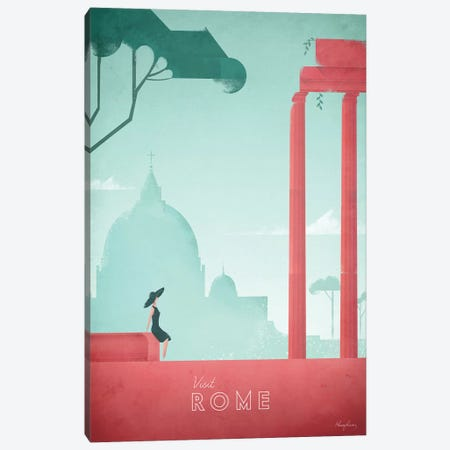 Rome Canvas Print #RIV16} by Henry Rivers Canvas Art Print