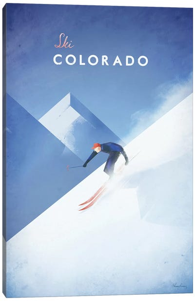 Ski Colorado Canvas Art Print
