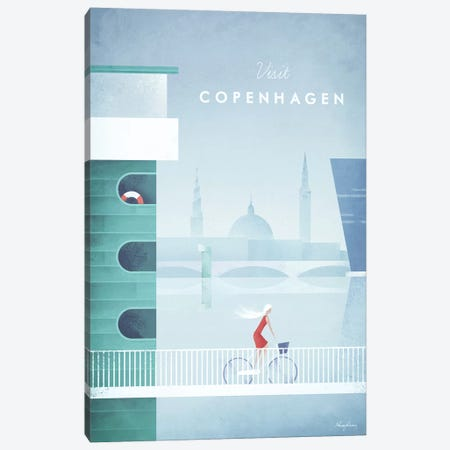 Visit Copenhagen Canvas Print #RIV18} by Henry Rivers Canvas Art