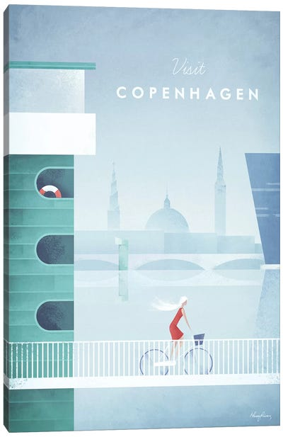 Visit Copenhagen Canvas Art Print