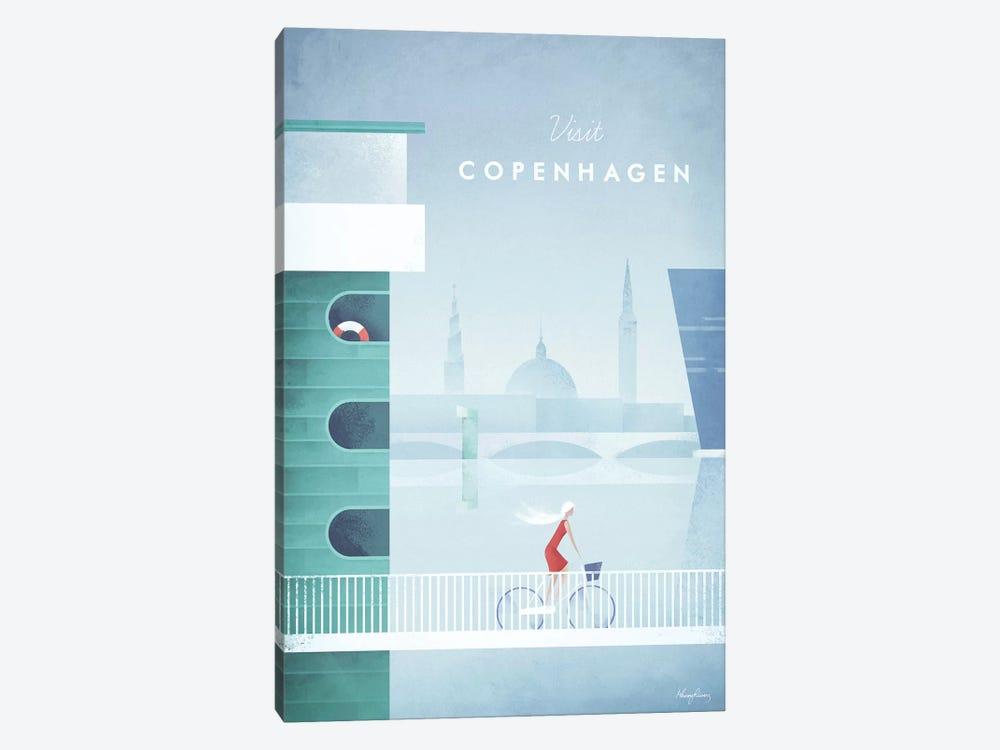 Visit Copenhagen by Henry Rivers 1-piece Canvas Artwork