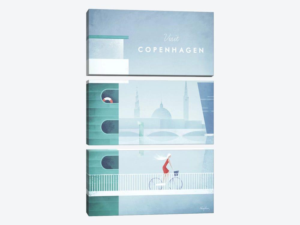 Visit Copenhagen by Henry Rivers 3-piece Canvas Art