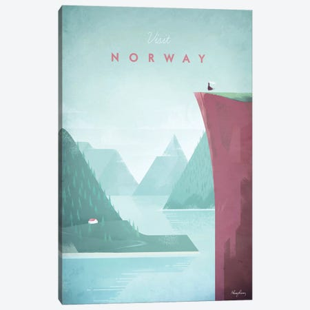 Visit Norway Canvas Print #RIV19} by Henry Rivers Canvas Artwork