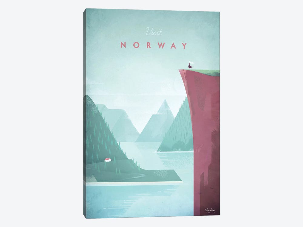 Visit Norway by Henry Rivers 1-piece Canvas Art Print
