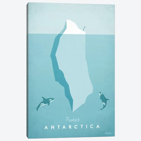 Antarctica Canvas Print #RIV1} by Henry Rivers Art Print