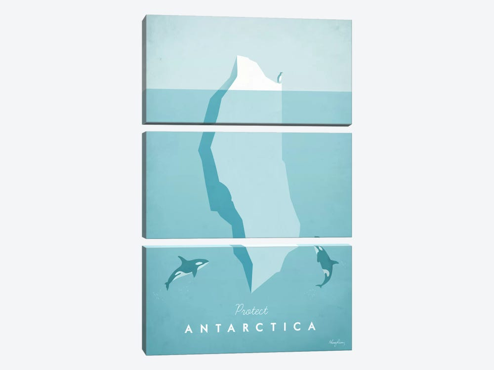 Antarctica by Henry Rivers 3-piece Canvas Wall Art