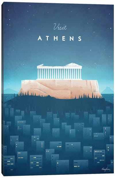 Visit Athens Canvas Art Print