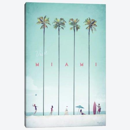 Visit Miami Canvas Print #RIV21} by Henry Rivers Art Print