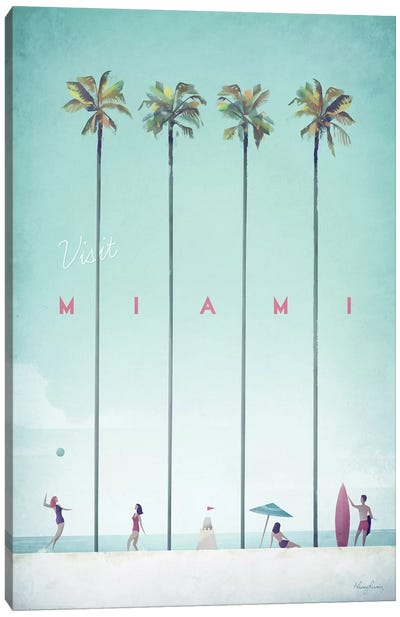 Visit Miami Canvas Art Print