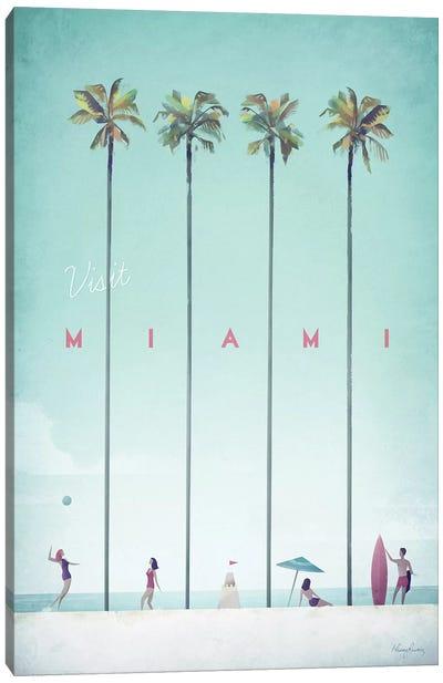 Visit Miami Canvas Art Print