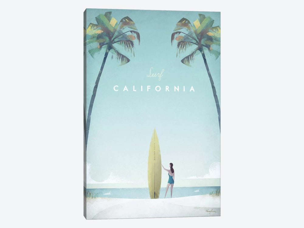 Surf California by Henry Rivers 1-piece Art Print