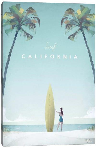 Surf California Canvas Art Print