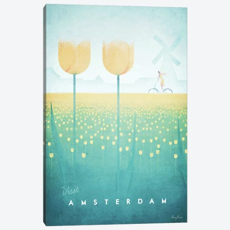 Amsterdam Canvas Print #RIV23} by Henry Rivers Canvas Print