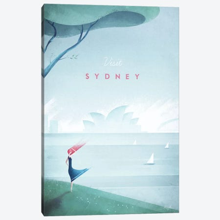 Sydney Canvas Print #RIV25} by Henry Rivers Canvas Art