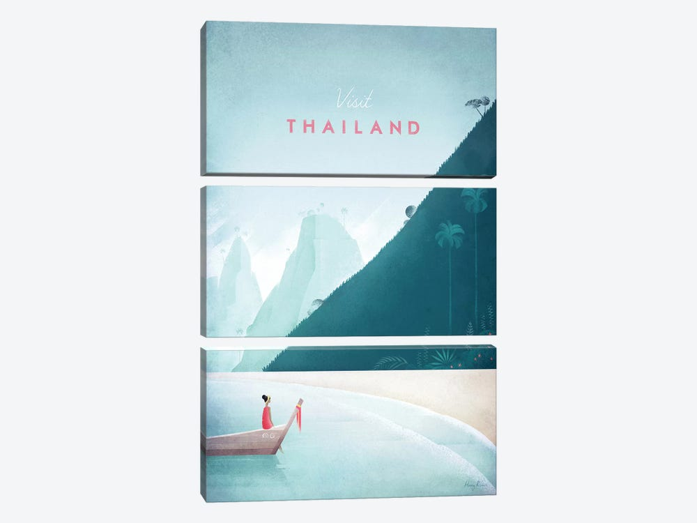 Thailand by Henry Rivers 3-piece Canvas Art Print