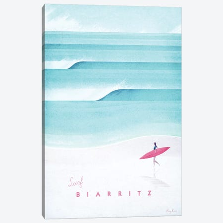 Biarritz Canvas Print #RIV27} by Henry Rivers Canvas Artwork