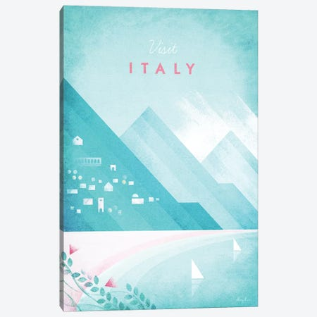 Italy Canvas Print #RIV28} by Henry Rivers Art Print