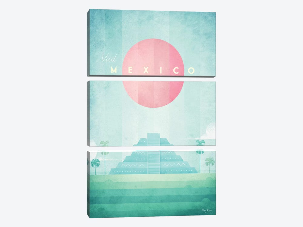 Mexico by Henry Rivers 3-piece Canvas Artwork