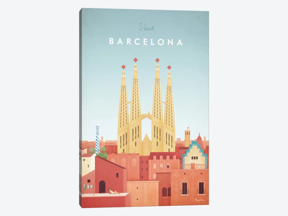 Barcelona by Henry Rivers 1-piece Art Print