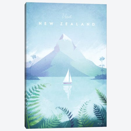 New Zealand Canvas Print #RIV30} by Henry Rivers Canvas Art