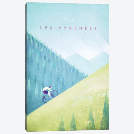 Pyrenees Canvas Print #RIV32} by Henry Rivers Canvas Artwork