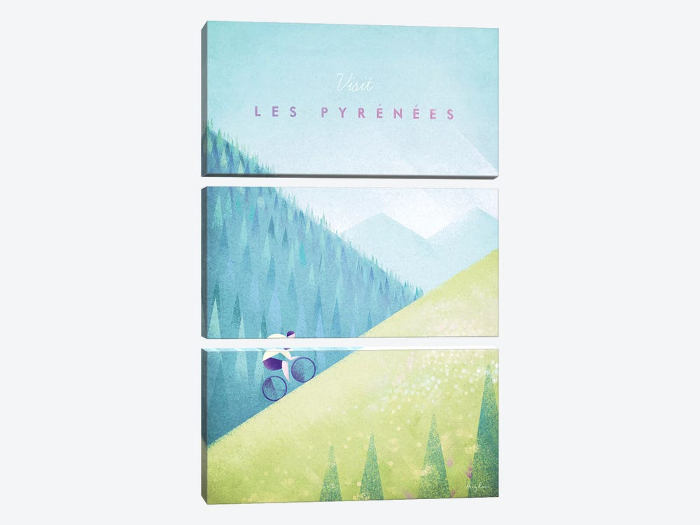 Pyrenees by Henry Rivers 3-piece Canvas Art