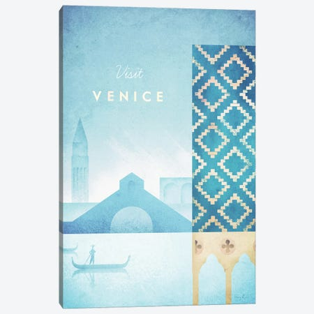 Venice Canvas Print #RIV33} by Henry Rivers Canvas Artwork