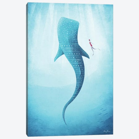 Whale Shark Canvas Print #RIV34} by Henry Rivers Canvas Art Print