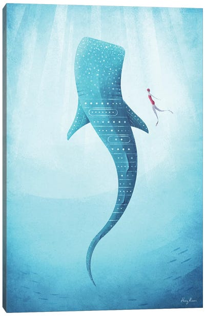 Whale Shark Canvas Art Print