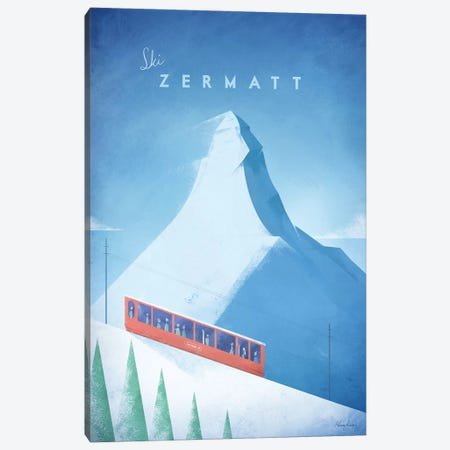 Zermatt Canvas Print #RIV35} by Henry Rivers Art Print
