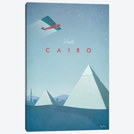 Cairo Canvas Print #RIV3} by Henry Rivers Art Print