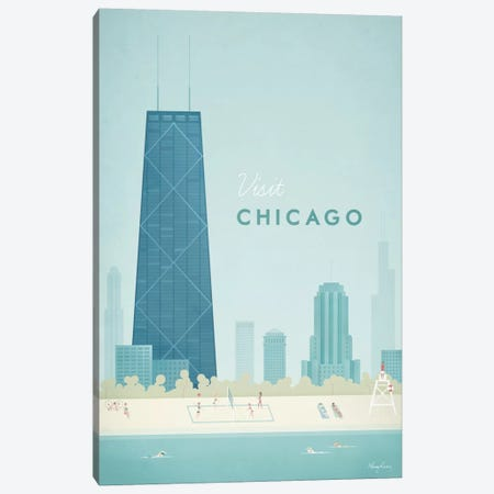 Chicago Canvas Print #RIV4} by Henry Rivers Canvas Wall Art