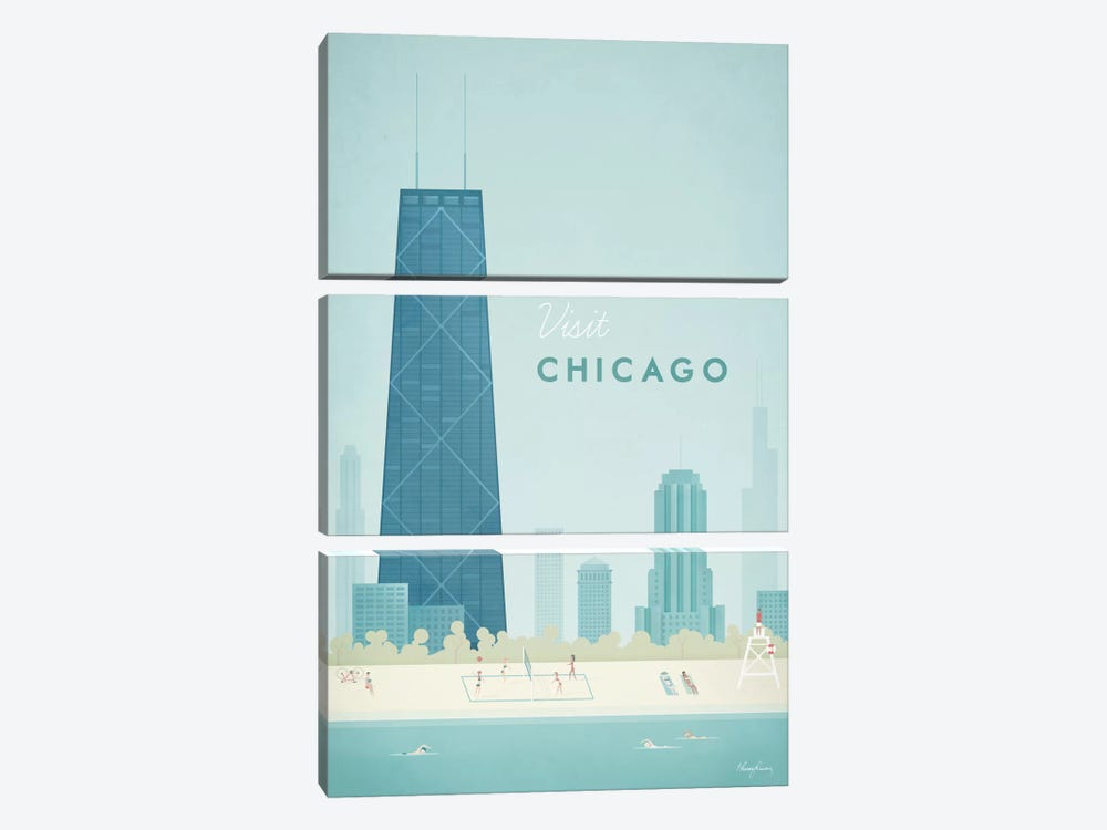 Chicago by Henry Rivers 3-piece Art Print