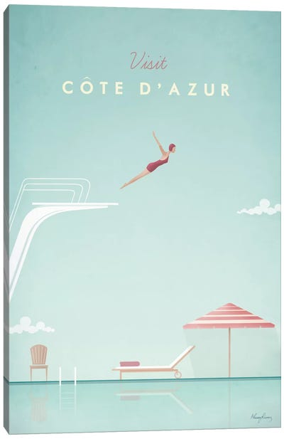 Cote d'Azur Canvas Art Print