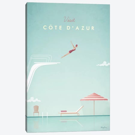 Cote d'Azur Canvas Print #RIV5} by Henry Rivers Canvas Artwork