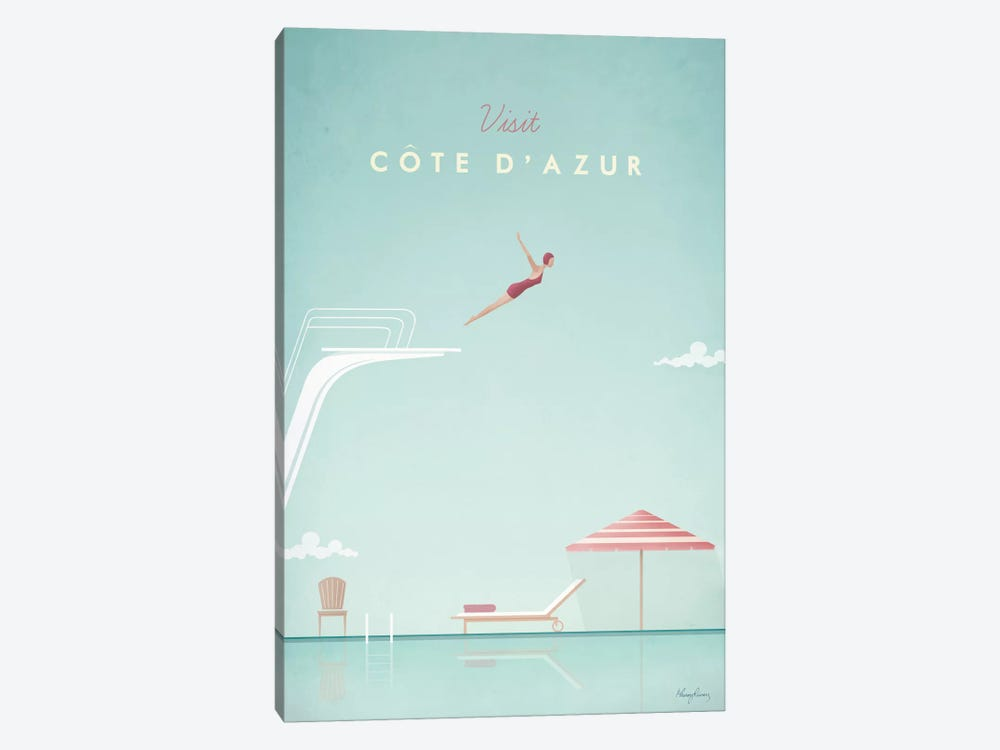 Cote d'Azur by Henry Rivers 1-piece Canvas Artwork