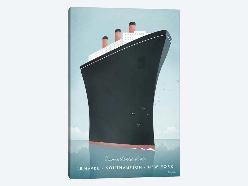 Cruise Ship by Henry Rivers 1-piece Canvas Print