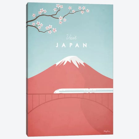 Japan Canvas Print #RIV7} by Henry Rivers Canvas Art