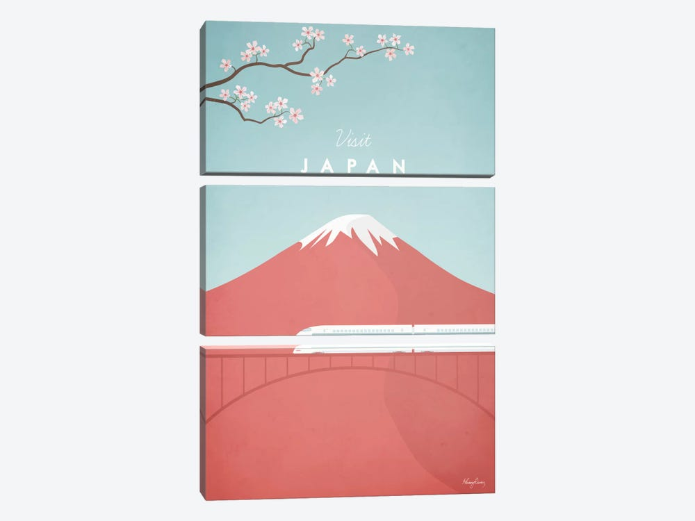 Japan by Henry Rivers 3-piece Canvas Art