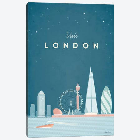 London Canvas Print #RIV8} by Henry Rivers Canvas Art Print