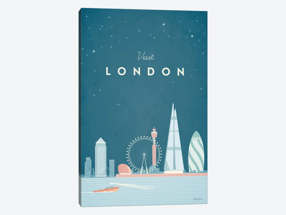 London by Henry Rivers 1-piece Canvas Print