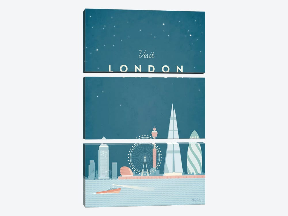 London by Henry Rivers 3-piece Art Print