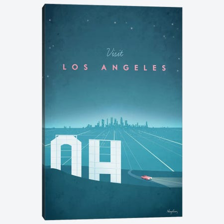 Los Angeles Canvas Print #RIV9} by Henry Rivers Canvas Print