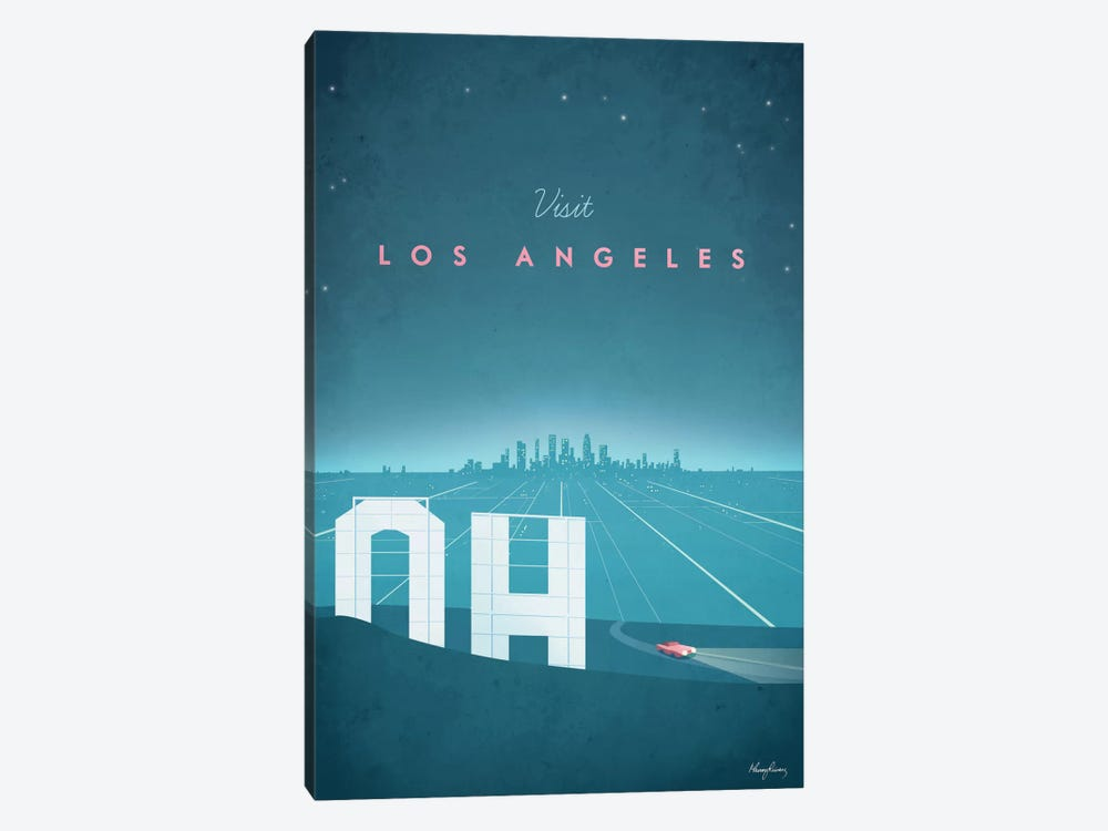 Los Angeles Wall Art los angeles canvas wall arthenry rivers | icanvas