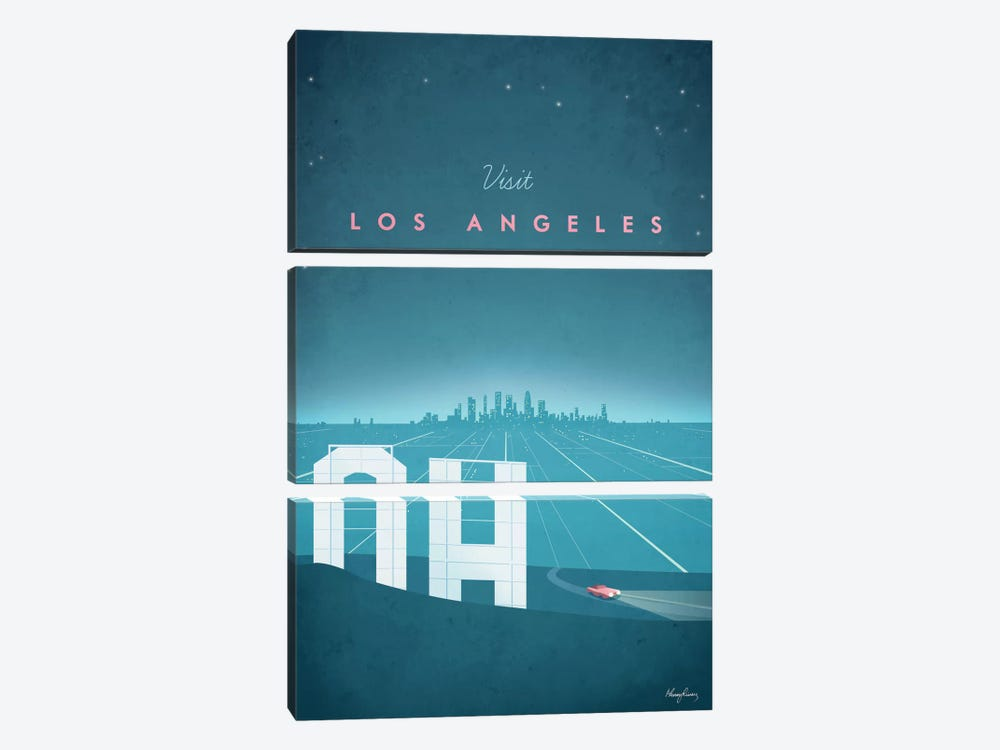 Los Angeles by Henry Rivers 3-piece Canvas Art