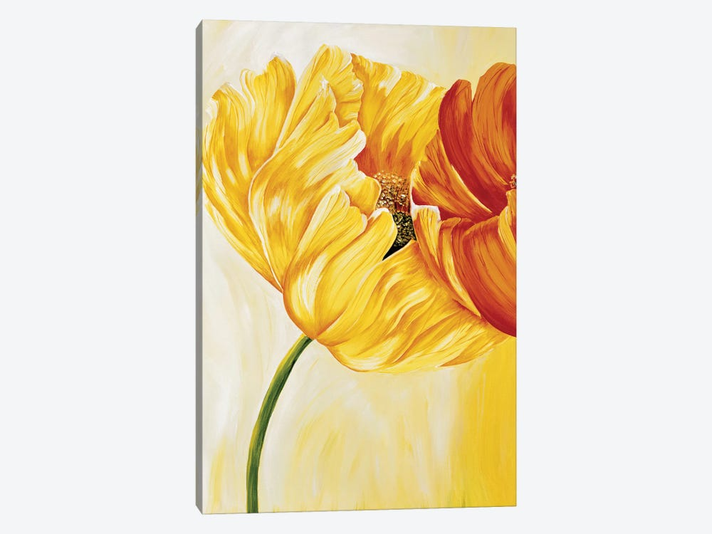 Dancing Tulips I by Beatrix Frederiks 1-piece Canvas Wall Art