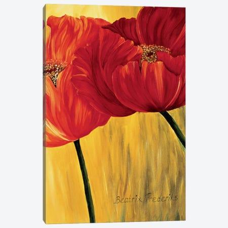 Dancing Tulips II 3-Piece Canvas #RIX2} by Beatrix Frederiks Art Print