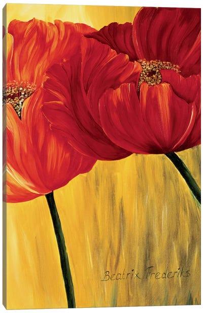 Dancing Tulips II Canvas Art Print