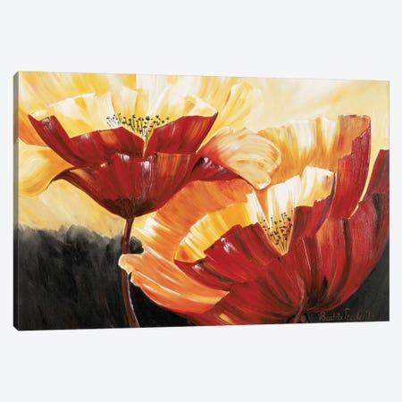 The Three Poppies Canvas Print #RIX4} by Beatrix Frederiks Canvas Art